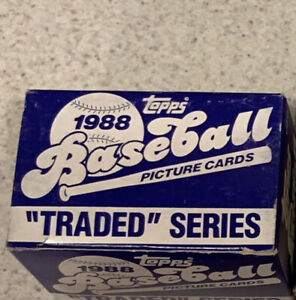 1988-TOPPS-TRADED-SERIES-BASEBALL-COMPLETE-132-CARD-SET-Sealed-W-Alomar-Rookie
