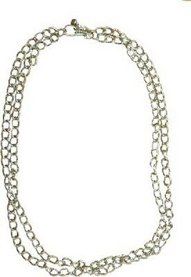 Single Strand Belt/Body Chain Silver Color Metallic Alloy 64 Inch Length