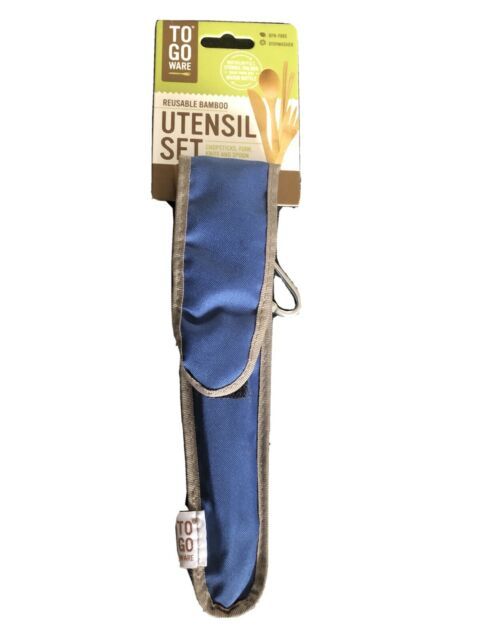 Utensil Set With Carrying Case Indigo for sale online To-go Ware Bamboo Travel Utensils