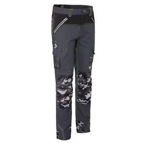 Pantalon de travail avec emplacements genouilleres Steven NW gris du 36 au 56