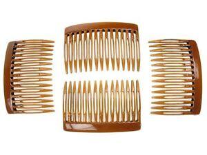 7cm-Tort-Brown-Side-Hair-Combs-Slides-Clips-Hair-Accessories