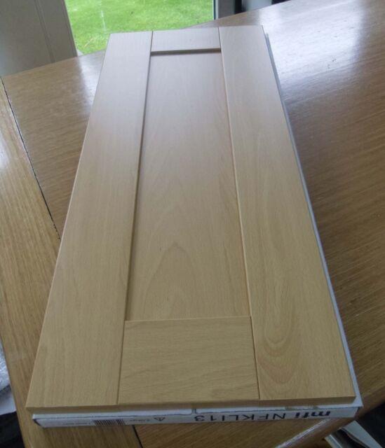 Pair Of 2 Mfi Light Oak Shaker Kitchen Cabinet Doors 400 X 720 Ebay