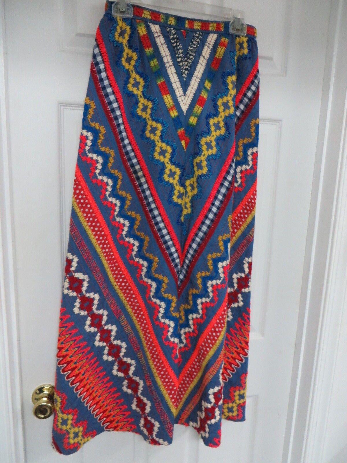 Vintage Beverly Paige  Tule lace A-line Maxi Back zip  Multi-colGoldt Rock 12