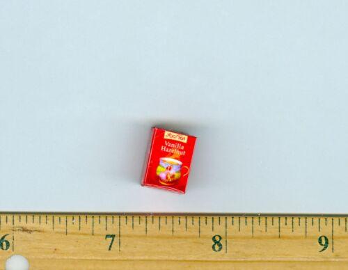 Dollhouse MINIATURE  Size Tea Box VANILLA HAZELNUT