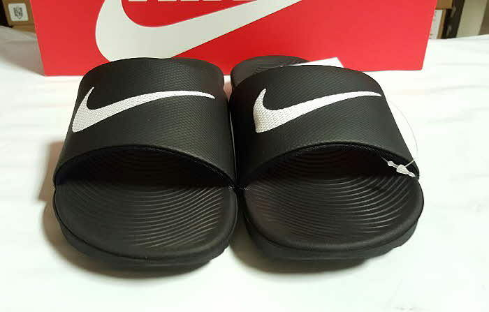 NIKE KAWA SLIDE Men's Sandal Black White White White 832646 010 Sz6-13 O 843bb8
