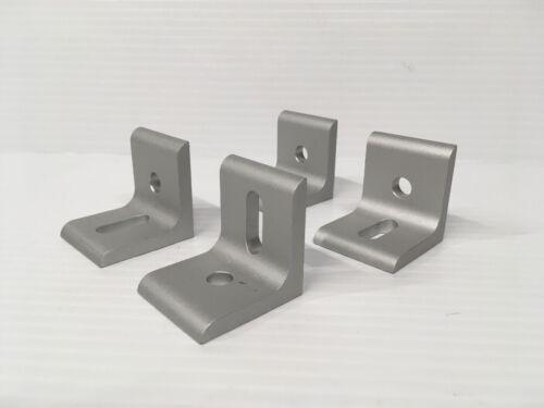 80//20 Inc Aluminum 2 Hole Slotted Inside Corner Bracket Set of 4 CLEAN !!