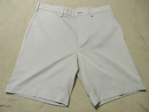 Roundtree-amp-Yorke-Flat-Front-Travel-Smart-Shorts-Sand-Size-34
