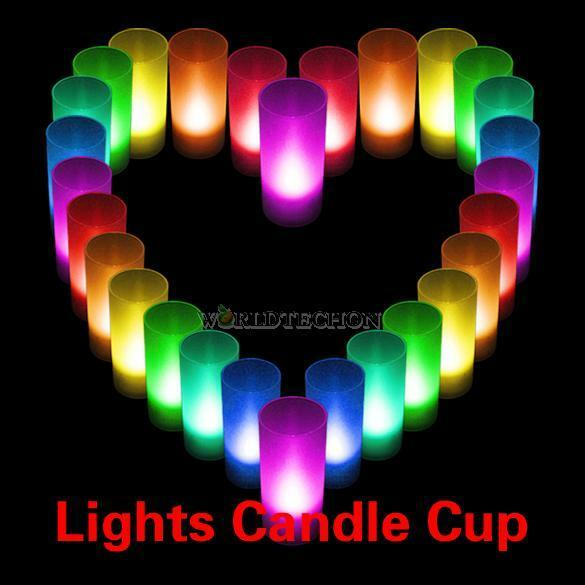 Flameless Changing 7 Color Votive Candle LED Battery Operated Cup Tea Light NEW