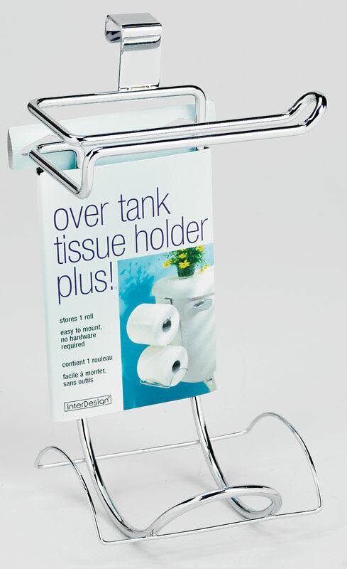 InterDesign Chrome Silver Over the Tank Toilet Paper Holder
