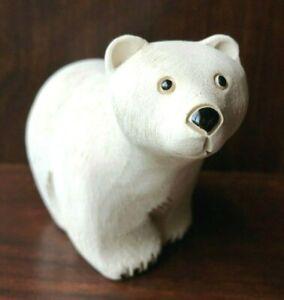 "Artesania Rinconada Polar Bear Standing Male 5"" Ceramic Figurine Uruguay No. 79B"