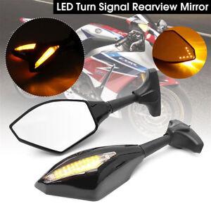 Carbon mirror LED indicator 10mm for Triumph Bonneville Street Triple