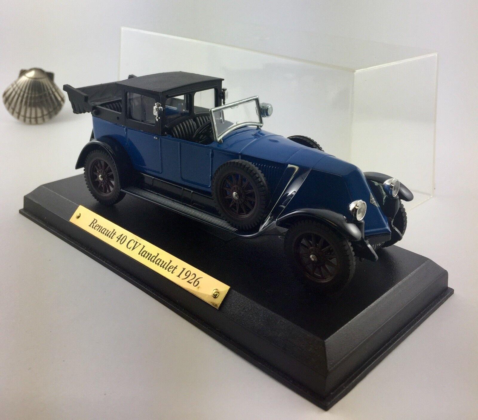 1 43 43 43 Atlas voitures d'exception 07 Renault 40 CV Landaulet 1926  primera reputación de los clientes primero