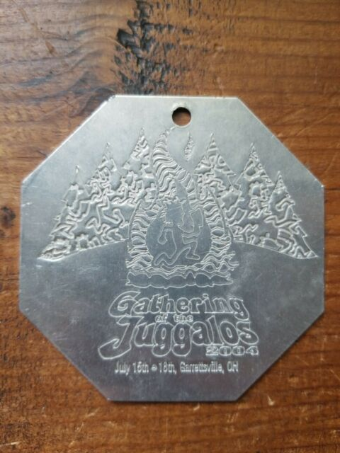 Gathering Of The Juggalos 2004 Metal Pendant Ticket
