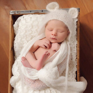 Cute Newborn Baby Girls Boys Crochet Photo Photography Prop Easy to Apply