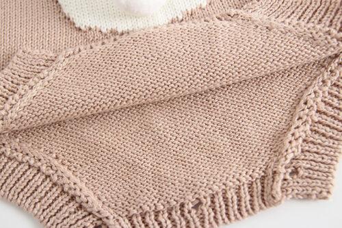 Pâques ** Gratuite p/&p Magnifique tricot lapin ange en rose ou blanc Vendeur Britannique **