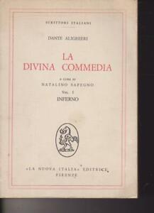 LA DIVINA COMMEDIA ALIGHIERI LA NUOVA ITALIA 1978  VOL. I INFERNO