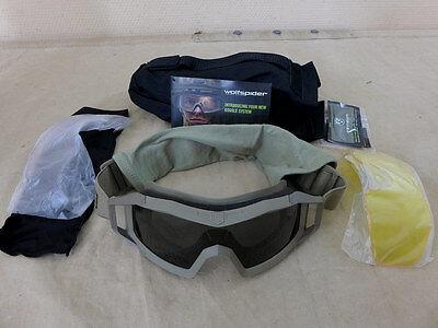 Neu- Us Revision Wolfspider Goggles System Kit Tan W/ Bag / Ballistische Brille AusgewäHltes Material