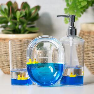 Floating-Duck-Bathroom-Sink-Accessories-Set-Lotion-Dispenser-Soap-Dish-Tumbler