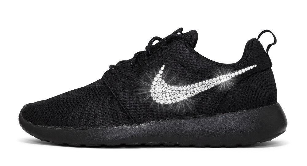 NWT Nike Roshe One Swarovski Bling Tennis Athletic shoes NIB Black