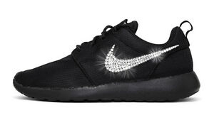 NWT Women s Nike Roshe One Custom with Bling Swarovski Crystal ... 62ecdb3d26e3