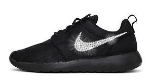 d0861b1ee9d0 NWT Women s Nike Roshe One Custom with Bling Swarovski Crystal ...