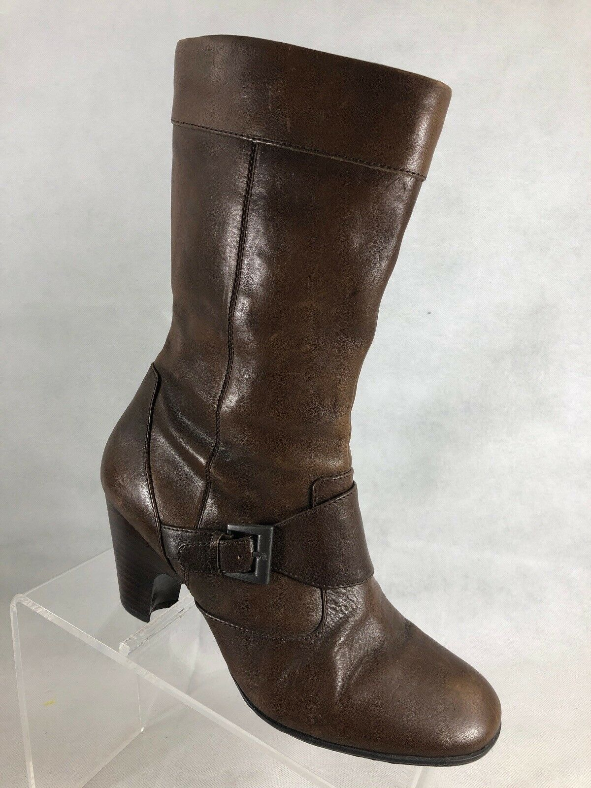 Born Womens Brown Leather Boots 9M   W4