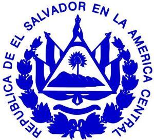 escudo de el salvador vinyl decal sticker for cars windows laptops