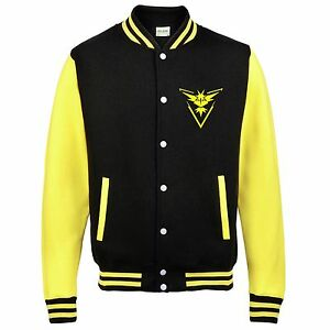 Kids Team Instinct Varsity Jacket funny hood retro gamer anime go