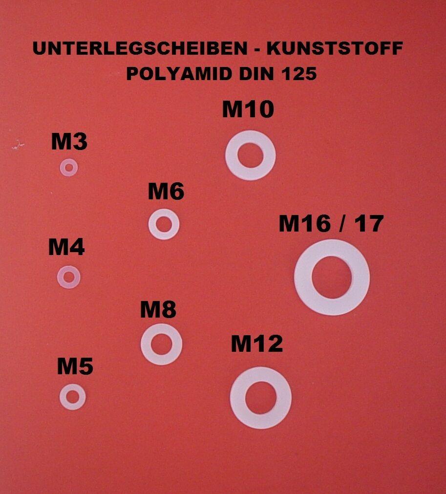 Rondelles rondelles m3 à m16 en plastique (polyamide) DIN DIN DIN 125 fe820f
