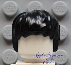 NEW-Lego-Boy-Girl-Minifig-BLACK-HAIR-Harry-Potter-Hulk-Short-Tousled-Head-Gear