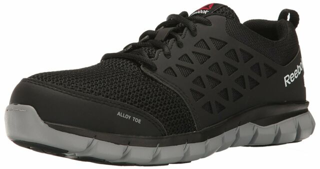 Reebok Work Mens Sublite Cushion Low Top Lace Up Running, Black, Size 9.0 RTVo