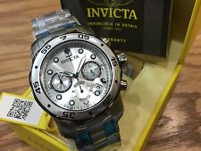 80060 Invicta 48mm Mens Pro Diver Scuba Quartz Chronograph SS Bracelet Watch