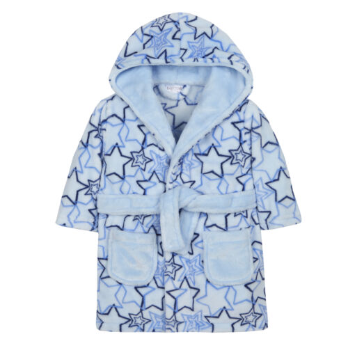 Babytown Supersoft Fleece Hooded Star Dressing Gown