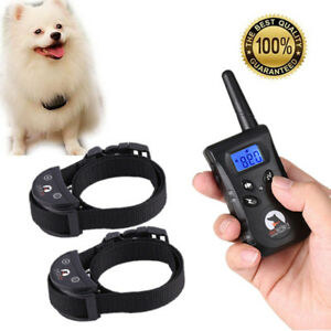 500M-LCD-Electric-Shock-Pet-Dog-Training-Remote-E-Collar-Waterproof-For-1-2-Dog