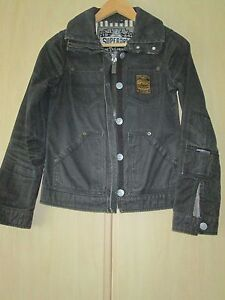 Ladies Superdry Størrelse Black Small Coat 4FqTw0