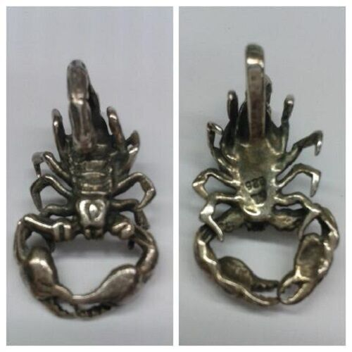 COLGANTE 925 silver Colgante de Collar cangrejo