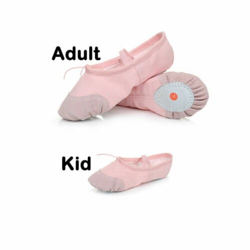 Womens Ballet Dance Shoes Adults Children Canvas Yoga Dance Shoes Gymnastics