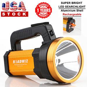 Roadwiz-LED-Searchlight-USB-Rechargeable-Flashlight-Spotlight-Aluminum-Frame