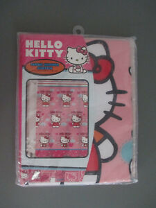 Sanrio-Hello-Kitty-Shower-Curtain-039-Fluttering-Hearts-039-Fabric-70-034-x-72-034