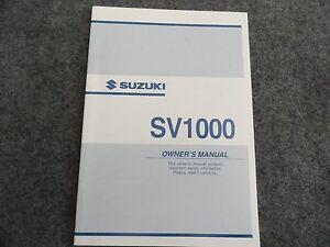 2003 2004 suzuki sv1000 owners manual sv 1000 ebay rh ebay com GSX- R1000 GSX- R1000