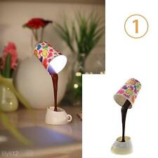 Diy Led Cool Pour Coffee Cup Table Lamp Home Usb Battery Night Light