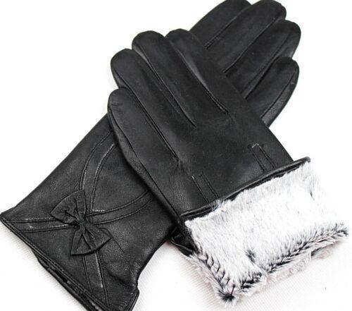 Damen 100/% Echt Leder Handschuhe Wärme gefüttert  Gr S  M  L   XL  XXL   //L87*