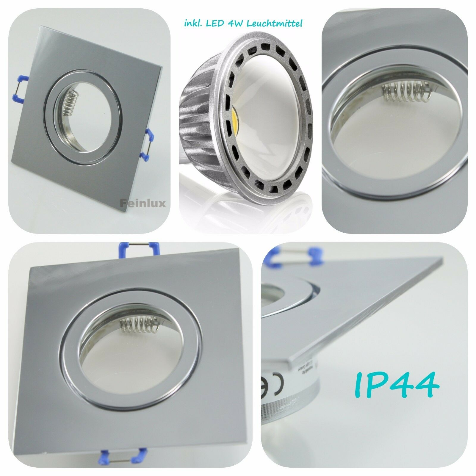 Ip44-feuchtraum nassraum alu installation projecteur 230v/gu10 4w COB LED badleuchten badleuchten badleuchten | La Réputation D'abord  9895ee