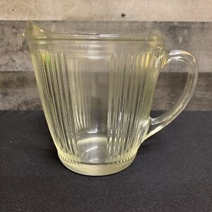 Vintage-EKCO-Chicago-Ribbed-Glass-Pitcher-7216-Made-in-USA