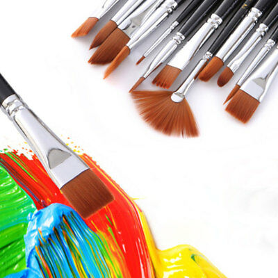 Art Brushes Set Nylon Hair Artiste Acrylic  for Oil Watercolor Paint Brush UIP