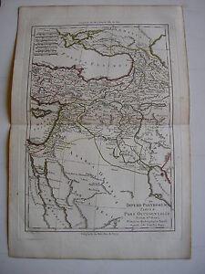 CARTE-IMPERII-PARTHORUM-occidentale-par-BONNE-carte-ancienne-1780-turquie-arabie