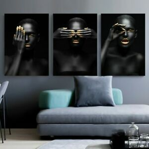 Nude and Black Watercolour Full Page Abstract Poster Print Home Room Wall Art