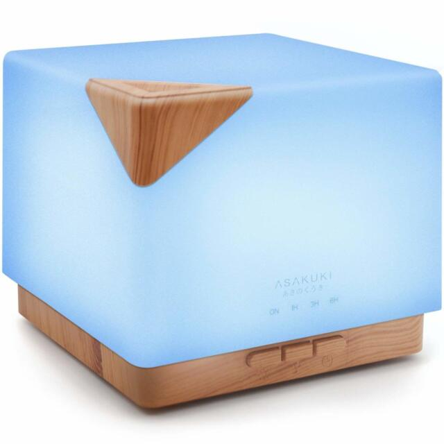 ASAKUKI 700ml Premium Essential Oil Diffuser 5 In 1 Ultrasonic Aromatherapy AU