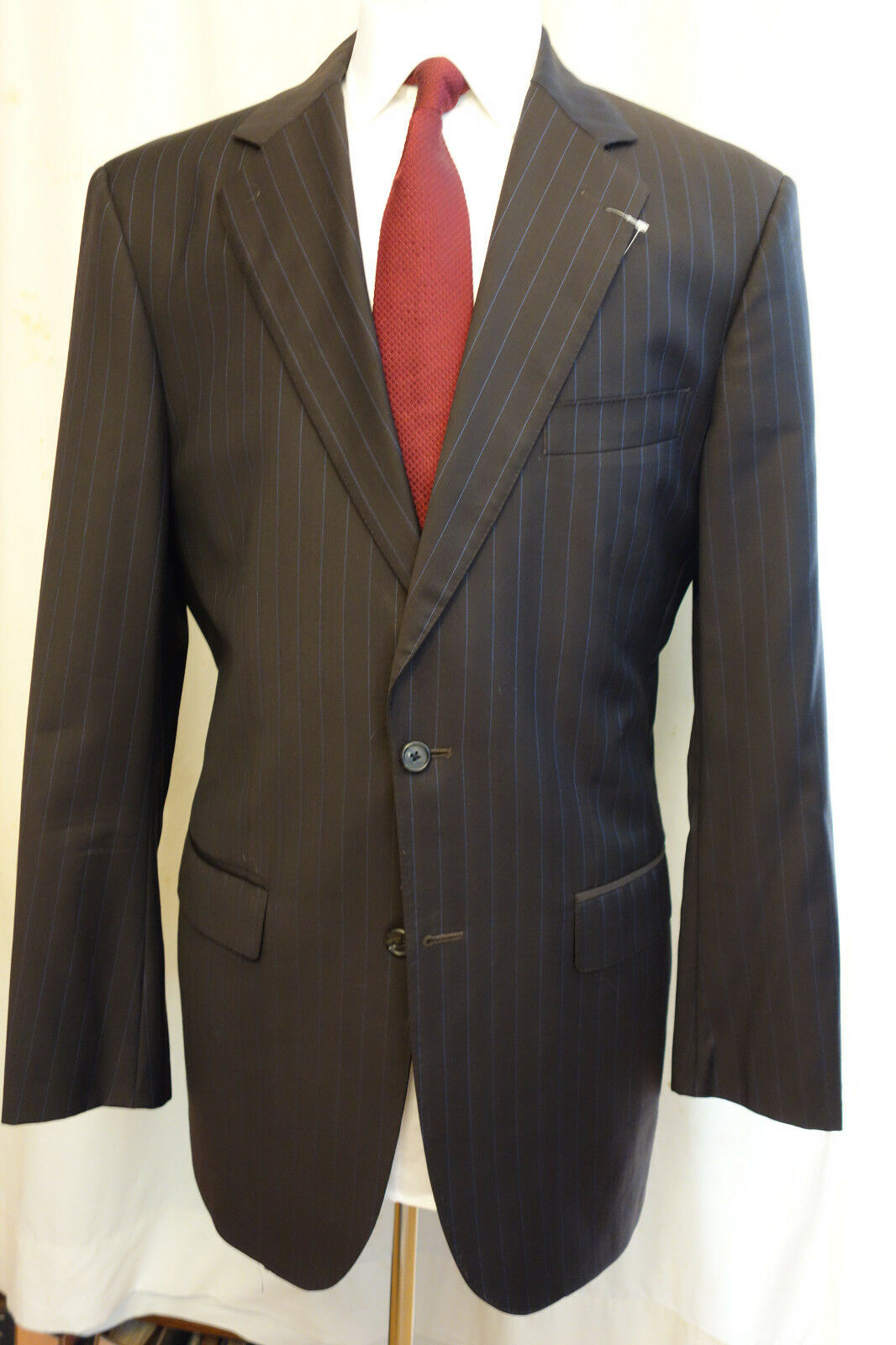 NWOT Brooks Brothers Custom TailoROT Braun Pinstripe Wool Suit 43L