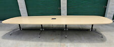 Herman Miller Eames 16 Oval Conference Table Segmented Aluminum Base